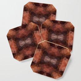 Mozaic design in dark brown colors Coaster