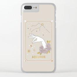 Aquarius Zodiac Sign Clear iPhone Case