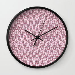 Waves in Pink Wall Clock