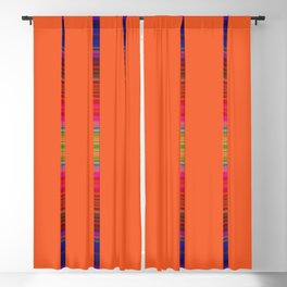 pumpkin stripe Blackout Curtain