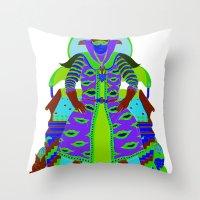 wizard Throw Pillows featuring Wizard by Samuel Bell
