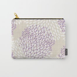 Orchid and White Flower Bursts Carry-All Pouch