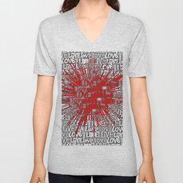 Explosion of Love Unisex V-Neck
