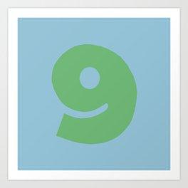 Number 9 Art Print