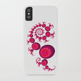 Pretty Pink Paisley on White iPhone Case