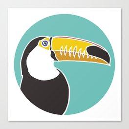 Toucan on Mint Canvas Print