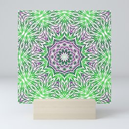Green - purple kaleidoscope Mini Art Print