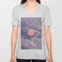 Cloudy Space Unisex V-Neck