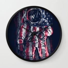Astronaut Flag Wall Clock
