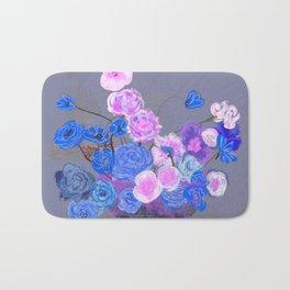 The arrangement in blue Bath Mat