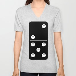 Black Domino / Domino Negro Unisex V-Neck