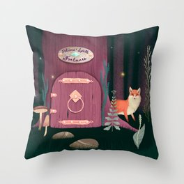 Sorcerer Of Woodland Charms Potions Spells And Fortunes Throw Pillow