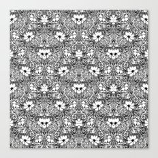 BECAUSE black and white mandala Canvas Print