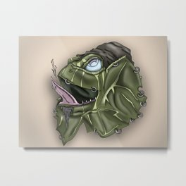 Frill Lizard Metal Print
