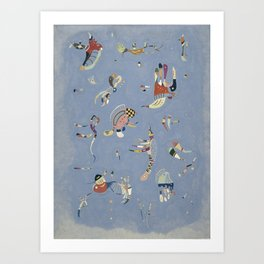 Bleu en ciel - V. Kandinsky Art Print