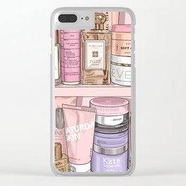 Pink Shelfie Clear iPhone Case