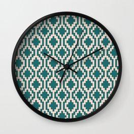 Mapuche Jade Blush Wall Clock