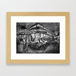 The Hopper: Interior Framed Art Print