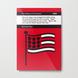 No033 MY The Making of Americans Book Icon poster Metal Print