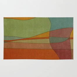 """""""Colorful Abstract Landscape"""" Rug"""