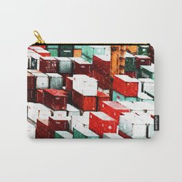 Mint Red Shipping Containers  Carry-All Pouch
