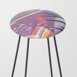 Summer Pastels Counter Stool