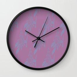 Blurred Flower Wall Clock