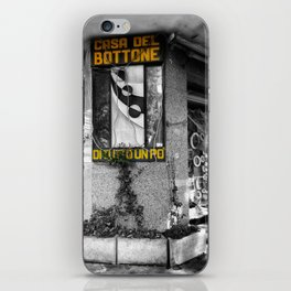 Italian Vintage Shop Black and White Photography iPhone Skin