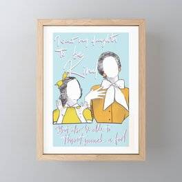 mother like daughter Framed Mini Art Print