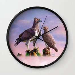 Martial Eagle Wall Clock