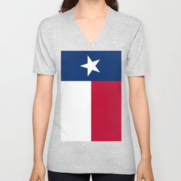 State flag of Texas, banner version Unisex V-Neck