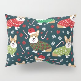 Corgi christmas sweater ugly sweater party with welsh corgis dog lovers dream christmas Pillow Sham