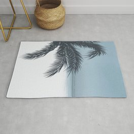 Palm and Ocean Rug