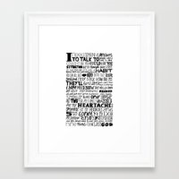 word Framed Art Prints featuring Word by Etiquette