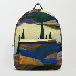 Mirror lake, alpine lake autumn mountain scene landscape painting by Franklin Carmichael home decor Backpack