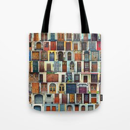 Collage of Kiev front doors,Ukraine Tote Bag