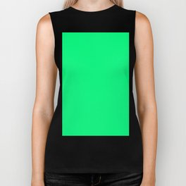 color spring green Biker Tank
