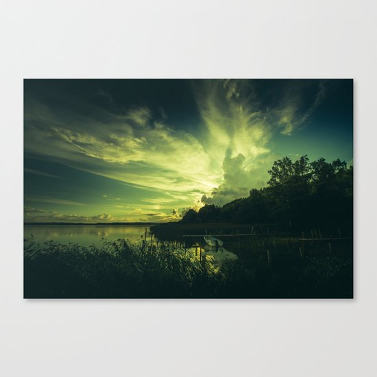 French kissing Canvas Print