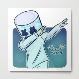 marshmello photo vectorized Metal Print