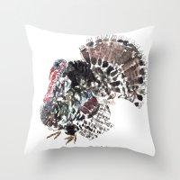 turkey Throw Pillows featuring Turkey by Elena Sandovici