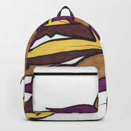 Autumn Reaching Abstract Street Art Ink Drawing Backpack