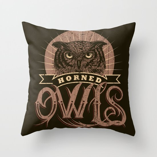 Team Owl Throw Pillow