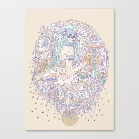 hues in moss Canvas Print