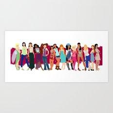 Modern Ladies  Art Print