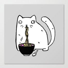 Rasabi Cat - Ramen Forever Canvas Print