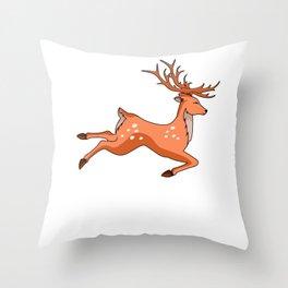 Eat More Fast Food Deer Hunting Fast Food Hunter Driven Hunt Stalker Throw Pillow