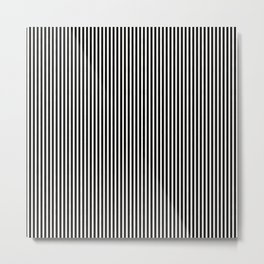Simple Black & White Licorice Cabana Stripe Metal Print