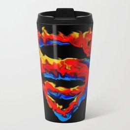 Superman in Flames Metal Travel Mug