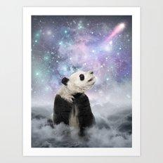 My Thoughts are Stars • (Panda Stargazer) Art Print