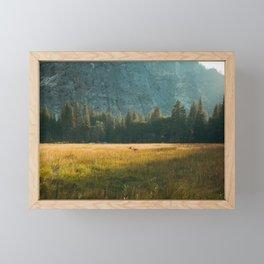 Meadow Sunset in Yosemite Framed Mini Art Print